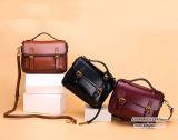 Manufactory da bolsa do saco de ombro das senhoras de saco de Messager do couro da vaca do estilo do vintage em Guanzhou Emg5011