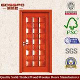 Diseños de madera de la puerta del dormitorio de la nuez sólida del diseño de la novedad (GSP2-034)