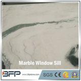 Het hoge Eind Opgepoetste M298 Witte Marmer van de Panda voor de Vensterbank van het Venster en Gekenmerkte Muur