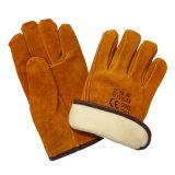 Перчатки водителей кожи зимы подкладки Thinsulate полные
