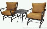 Presidenza profonda di alluminio della disposizione dei posti a sedere dei migliori di modo del giardino della mobilia bistrot esterni americani classici dell'hotel