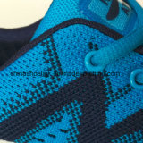 De Tennisschoenen die van kleurrijke Vrouwen Atletische Schoenen met het Breien van Bovenleer in werking stellen