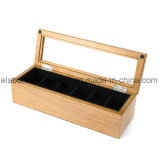 Do revestimento Handmade feito sob encomenda do piano de China caixa de armazenamento de madeira do relógio com indicador