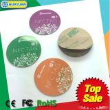 Pvc gelamineerde markeringen NFC NTAG213/215 programmeerbare slimme RFID