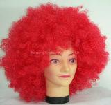Mélange de couleur moyenne perruque de cheveux synthétiques pour le parti / cheveux humains sentiment
