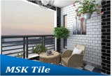 3in. X6in. Glanz-weiße keramische Bereich-Wand-Fliese