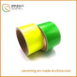 Film r3fléchissant r3fléchissant de ruban adhésif d'attention de sûreté de PVC