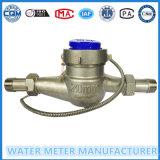 En acier inoxydable cadran sec Multi Jet Sortie impulsions compteur d'eau DN15mm