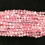 Estilo semi-precioso da forma Natural Crystal Rose Quartz Hearted Bead
