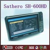 7 cercatore satellite dell'affissione a cristalli liquidi Sathero Sh-600HD DVB-S2 Digitahi di pollice