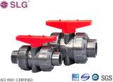 Vávula de bola industrial del PVC CPVC Dn25