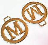 Acessórios de vestuário Etiqueta Niquelado Logotipo da Bolsa de Metais