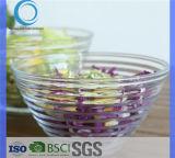 Горячая продажа стеклянной чаши салат чашу фруктов стеклянная чаша с рисунком