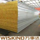 Alta densidad de paneles sándwich de lana de roca para la construcción de acero