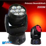 Princess 7 X 10W RGBW 4 à 1 LED Déplacement du faisceau Tête avec fonction de zoom