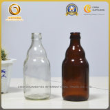 Kundenspezifische stämmige bernsteinfarbige 330ml Bierflasche mit Kronen-Oberseite (502)