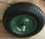 Luft-Rad mit Alxe und 4 Muttern mit Größe (350-8)