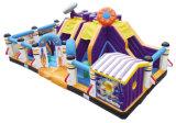 Encourager l'espace d'amusement Fun City gonflable sur le thème de l'équipement de divertissement