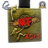 3D mueren la medalla del molde con el final de bronce antiguo, diseño libre de las ilustraciones