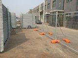 42 microns de feux de croisement galvanisé à chaud portatif temporaire de la construction de panneaux de clôture