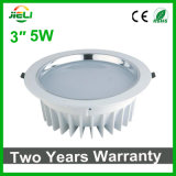 "Decoración de interiores de aluminio Die-Casting 3""5W Downlight LED Empotrables"