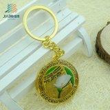 Jiabo personalizou o metal Keychain da liga do zinco do ouro