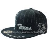 Flat Bill Snapback Polywool Twill Sport Baseball Cap (TMFL0006-1)