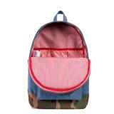 Bolsos simples de encargo del morral de la escuela con sus los propios insignia del diseño