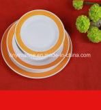 Shandong rapidamente che vende piatto di ceramica rotondo poco costoso, piatto di ceramica sicuro di Microwaver