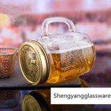 Frasco de vidro do mel do atolamento do recipiente de alimento do frasco de vidro de frasco de pedreiro