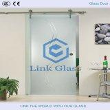 10mm ausgeglichenes Dusche-Raum-Glas mit Säure ätzte Glas