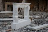 Mensola del camino di marmo bianca del camino di Carrara in azione (SY-MFP12302)