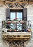 Balcone Railing&Fence del ferro saldato dell'illustrazione per la villa