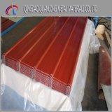 Folha de aço ondulada Prepainted revestida cor da telhadura