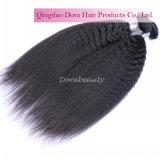 自然で黒いねじれたまっすぐなバージンのブラジル人の毛