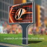 La pubblicità della tenda del blocco per grafici LED della flessione della bandiera della foto mette a nudo il segno luminoso di Scroller Unipole