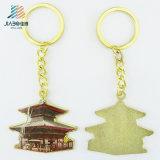 선전용 품목을%s 80mm 아연 합금 주물 금 열쇠 고리 금속 집 Keychain