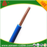 Incêndio de H07V2-R - o único núcleo resistente encalhou o cabo isolado PVC do condutor
