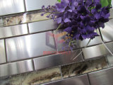 Mosaico cristalino de plata del papel de empapelar de la mezcla del acero inoxidable del color (CFM1030)