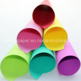 Usine de papier se pliante de papier de bois de bonne qualité de couleur non-enduite de pâte
