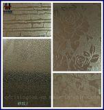Feuille décorative repérée d'acier inoxydable de couleur pour le matériau de construction