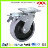 200mm Schwenker-Platte mit seitlicher Fußrolle der Bremsen-TPR (P701-34D200X50Z)
