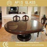 Clair de style classique de forme irrégulière de la table en verre trempé