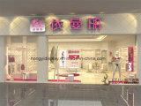 女性下着の小売店の据え付け品、店デザインのための金属ラック