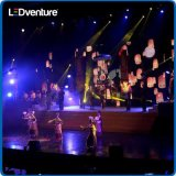 Afficheur LED de location polychrome d'intérieur de spectacles de tournée