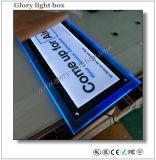 De blauwe Lichte Doos van het Kristal van het Frame van de Kleur