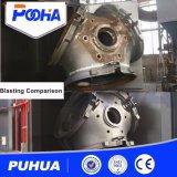Sitio grande de voladura de arena de las estructuras de acero de la venta caliente con el sistema de reciclaje abrasivo automático