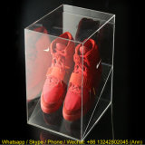 Boîte de présentation acrylique de chaussure de plexiglass clair