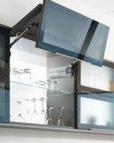 Bauholz-Furnier-Blattende mit hohem glattem Küche-Schrank (BY-L-113)