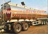 Acoplado de aluminio del tanque del certificado de Adr/DOT